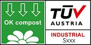 logo ok compost industrial tuv austria